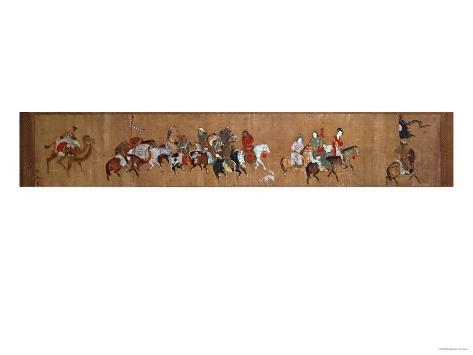 A Convoy of Mongols, Chinese, 14th Century Gicléedruk