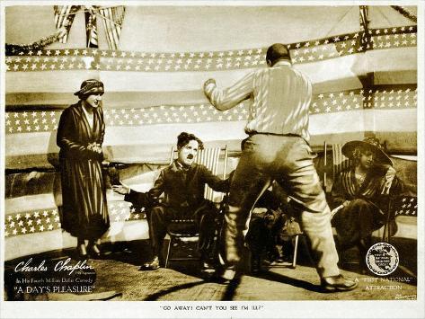 A Day's Pleasure, Edna Purviance, Charlie Chaplin, Tom Wilson, 1919 Kunstdruck