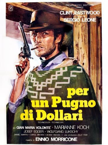 A Fistful of Dollars (aka Per Un Pugno Di Dollari) Kunstdruck