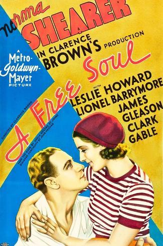 A Free Soul, Leslie Howard, Norma Shearer, 1931 Kunstdruk