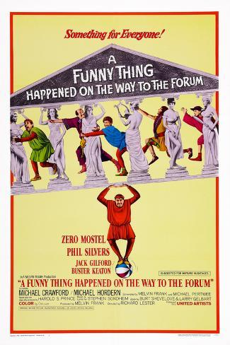 A Funny Thing Happened on the Way to the Forum, 1966 Poster