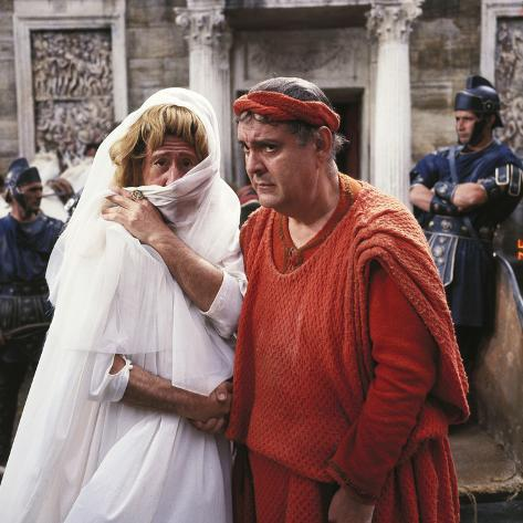 A Funny Thing Happened On The Way To The Forum, Jack Gilford, Zero Mostel, 1966 Foto