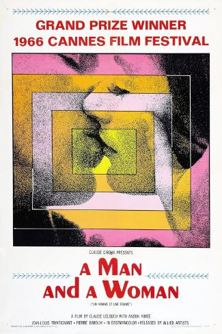 A Man and a Woman, (AKA Un Homme Et Une Femme), 1966 Kunstdruck