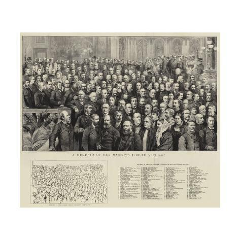 A Momento of Her Majesty's Jubilee Year, 1887 Giclée-Druck