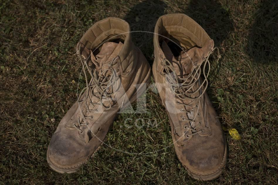 A Pair of Combat Boots Belonging to a U.S. Marine Corps Sergeant ...
