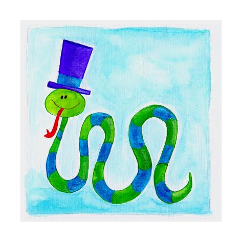 A Snake Wearing a Top Hat Giclée-Druck