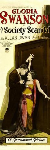 A SOCIETY SCANDAL, from left: Rod La Rocque, Gloria Swanson, 1924. Kunstdruck
