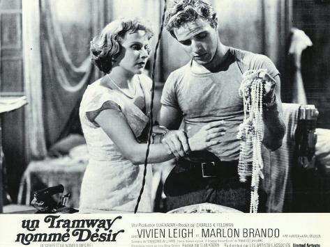 A Streetcar Named Desire, French Movie Poster, 1951 Kunstdruk