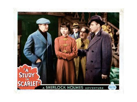 A Study in Scarlet, from Left:Warburton Gamble, Anna May Wong, Alan Mowbray, 1933 Giclée-Druck