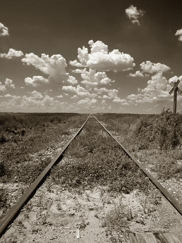 Old Railroad Tracks Fotografie-Druck