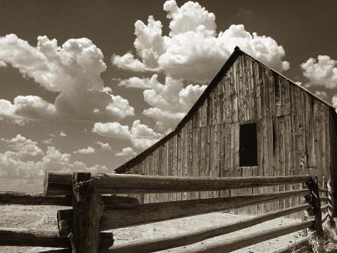 Zaun und Scheune Fotografie-Druck