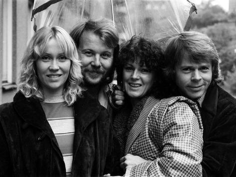 Abba Swedish Pop Band in the Studio, April 1974 Fotoprint