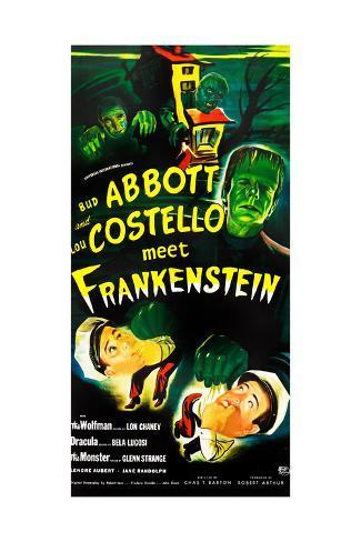 Abbott and Costello Meet Frankenstein, (AKA Bud Abbott and Lou Costello Meet Frankenstein) Kunstdruck