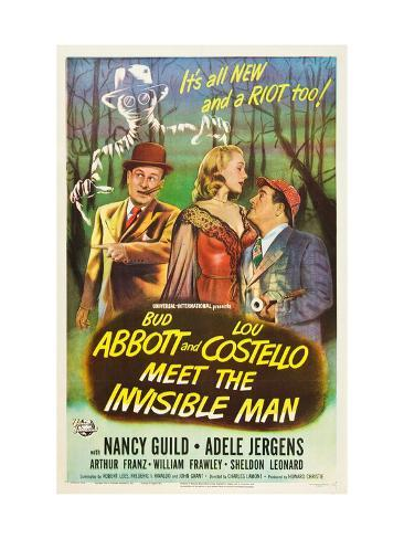 Abbott And Costello Meet the Invisible Man, Bud Abbott, Adele Jergens, Lou Costello, 1951 Foto