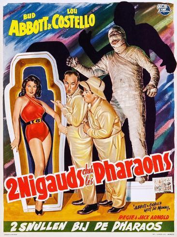 Abbott and Costello Meet the Mummy (aka 2 Nigauds Chet Les Pharaons) Kunstdruck