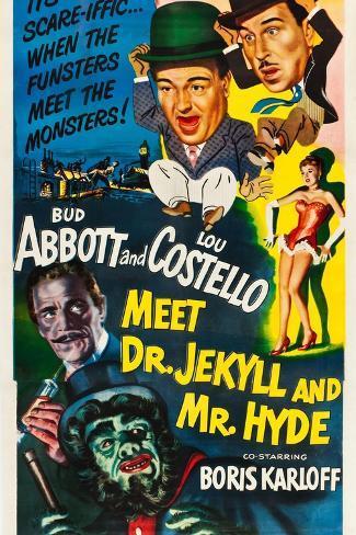 Abbott und Costello gegen Dr. Jekyll und Mr. Hyde Giclée-Premiumdruck