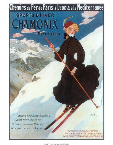 Chamonix, Sports d`Hiver Kunstdruck