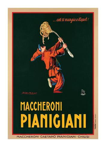 Makkaroni Pianigiani, 1922 Giclée-Druck