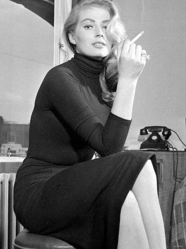 Actress Anita Ekberg Fotografie-Druck