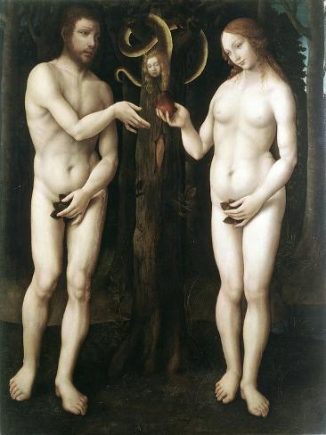 Adam and Eve' ('The Temptation of Adam), C1520 Giclée-Druck