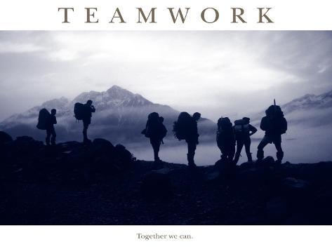 Teamwork - Together we can Fotografie-Druck