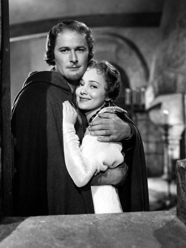 Adventures Of Robin Hood, Errol Flynn, Olivia De Havilland, 1938 Foto