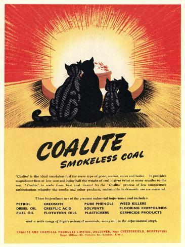 Advert for 'Coalite' Smokeless Coal Giclée-Druck