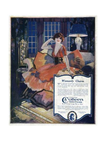 Advert for Colleen Cream Giclée-Druck