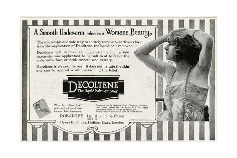 Advert for Decoltene Liquid Hair Remover 1920 Giclée-Druck