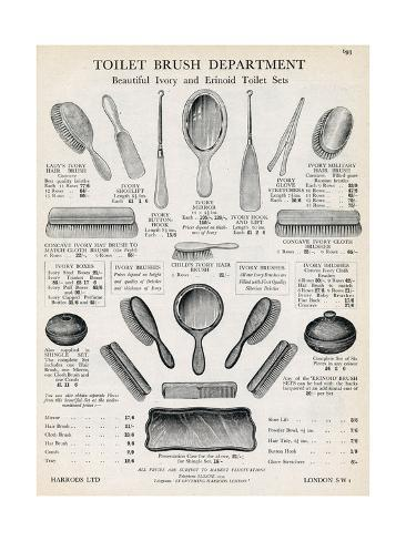 Advert for Hairbrushes Giclée-Druck