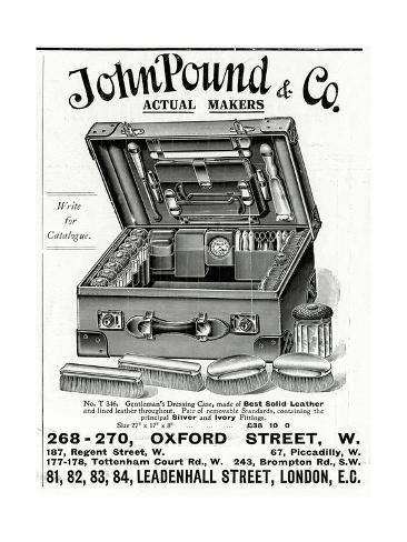 Advert for John Pound and Co Dressing Case 1914 Giclée-Druck