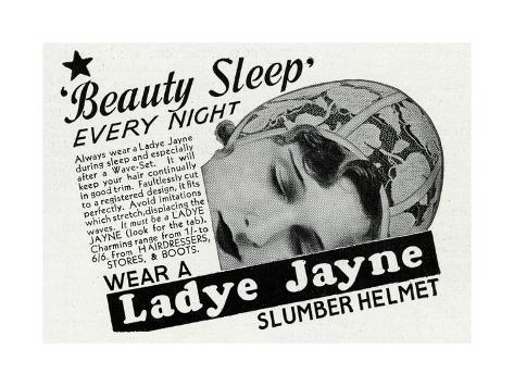 Advert for Ladye Jayne Slumber Helmet 1934 Giclée-Druck