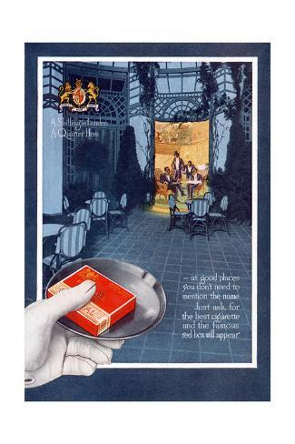 Advert, Pall Mall Cigs Giclée-Druck
