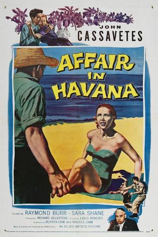 Affair in Havana, John Cassavetes, Sara Shane, Raymond Burr, 1957 Kunstdruck