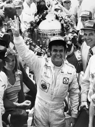 Al Unser, Winner of the Indy 500, 1978 Fotografie-Druck