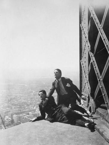 Albert Préjean and Henri Rollan: Paris Qui Dort, 1925 Fotografie-Druck