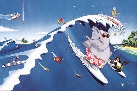 Alex Rinesch (The Big Surf) Art Poster Print Poster