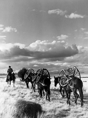 Location Shooting of Western Movie, Union Pacific, 1939 Fotografie-Druck