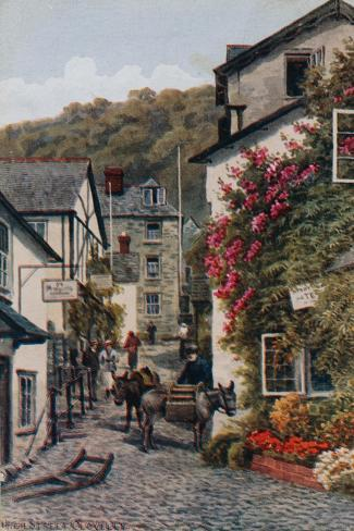 High Street, Clovelly Giclée-Druck