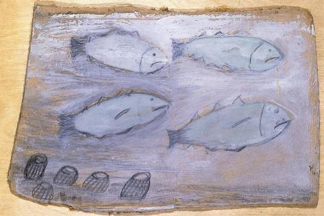 Four Fishes Giclée-Druck