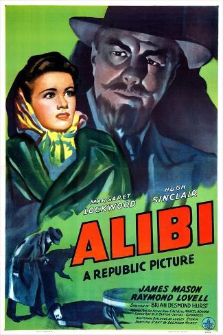 Alibi, Margaret Lockwood, Hugh Sinclair, 1942 Kunstdruck