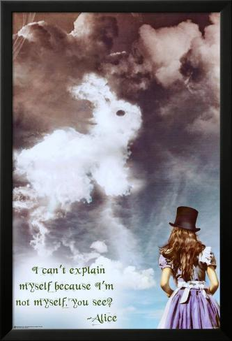 Alice im Wunderland Laminiertes gerahmtes Poster