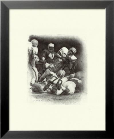 Jim Brown Laminierter gerahmter Kunstdruck