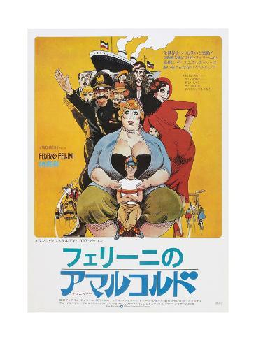 Amarcord, Japanese poster, 1973 Kunstdruck