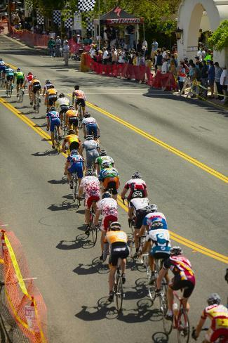 Amateur Men Bicyclists competing in the Garrett Lemire Memorial Grand Prix National Racing Circu... Fotografie-Druck