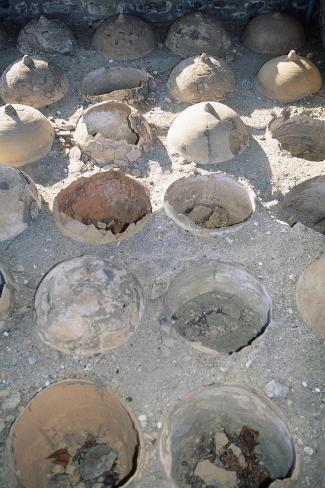 Amphorae Used as Drainage, Saint-Romain-En-Gal, Vienne, Rhone-Alpes, France Giclée-Druck