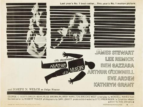 Anatomy of a Murder, Lee Remick, Ben Gazzara, James Stewart, 1959 Kunstdruck