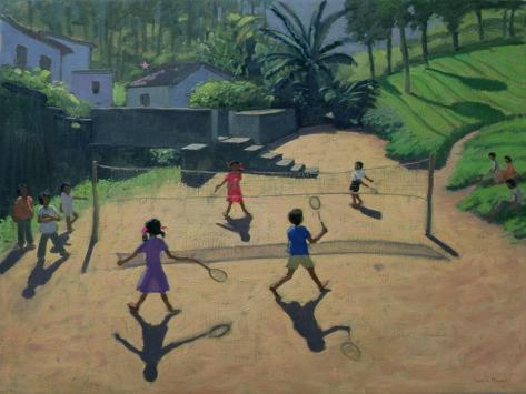 Badminton, Coonoor, India Giclée-Druck
