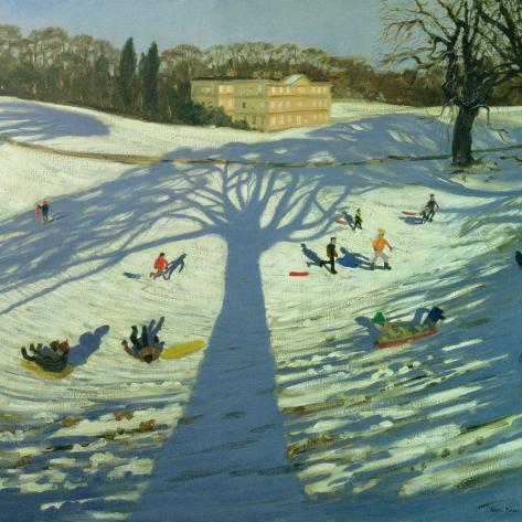 Calke Abbey House, Winter, 2002 Giclée-Druck