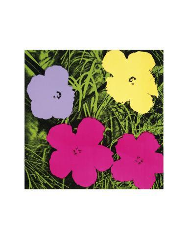 blumen 1 lila 1 gelb 2 rosa poster von andy warhol bei. Black Bedroom Furniture Sets. Home Design Ideas